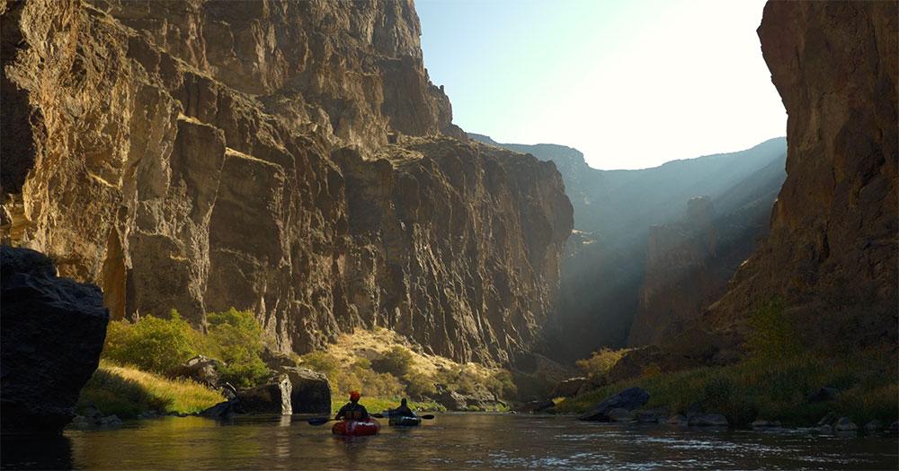 Kayakers in Owyhee Plateau river